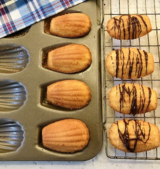 Almond & Chocolate Madeleines