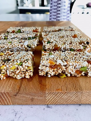 Puffed Protein Energy Bars